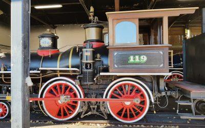Mantenimiento de ruedas de locomotora de vapor