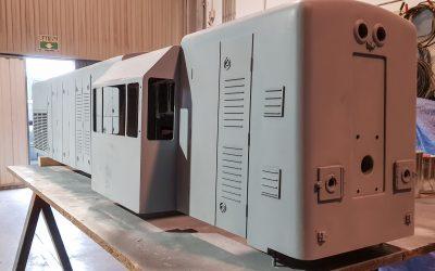 Locomotora de modelismo tripulado de Venta de Baños